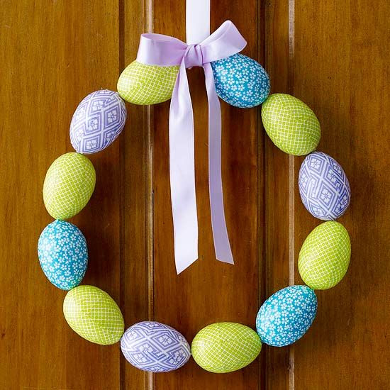Colored Easter Egg Wreath
