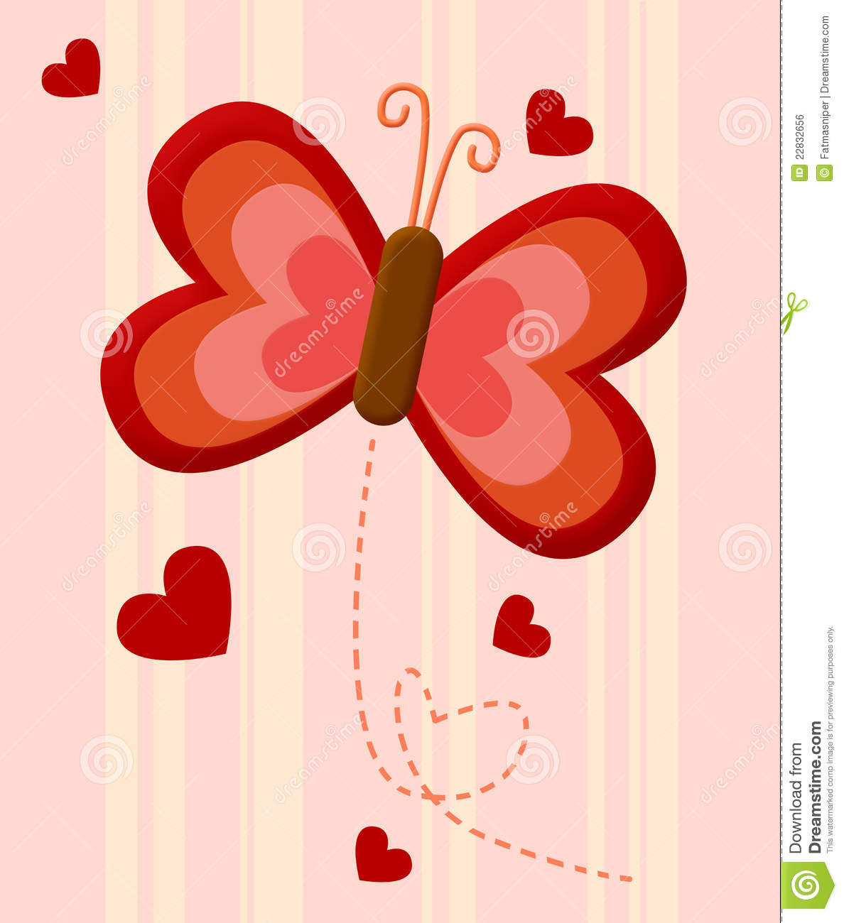 red butterfly love 22832656