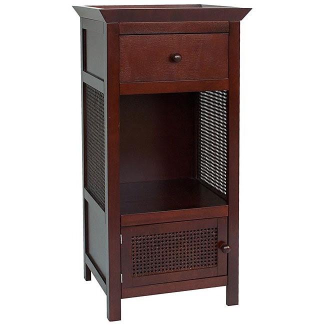 Cherry Brown 1 Door Drawer Bathroom Furniture Linen Home ...