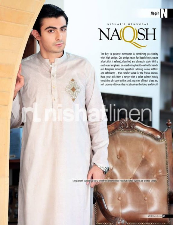 Naqsh-by-Nishat-Linen-Mens-Male-Wear-Kurta-Pajama-Shalwar-Kameez-Eid-Collection-2013-4