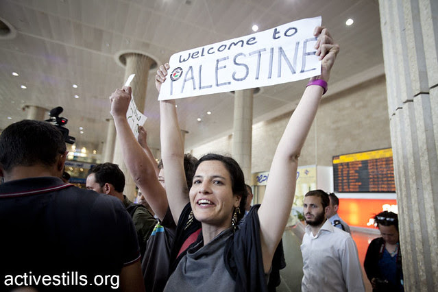 A pro palestinian fly-in to Ben Gurion airport, Israel  15.4.2012