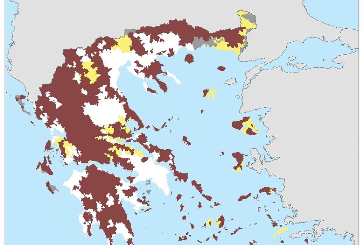 Αποτέλεσμα εικόνας για «νέο σχέδιο οριοθέτησης των περιοχών με φυσικούς περιορισμούς εκτός των ορεινών»