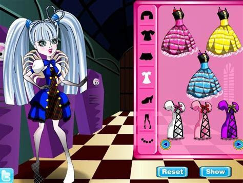 monster high c.a. cupid dress up girls game