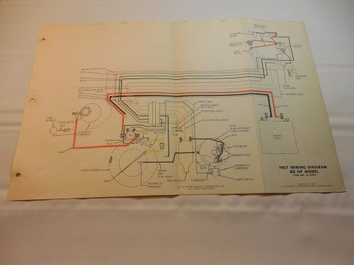 Sell 1967 Johnson 80 Hp Outboard Wiring Diagram Vintage Motor Js 4295 Motorcycle In Keokuk Iowa United States For Us 5 99