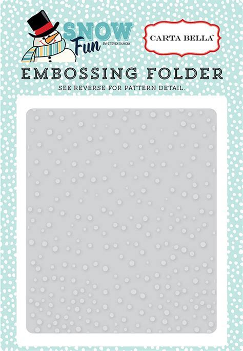 Carta Bella Paper Snow Fun Falling Snow Embossing Folder