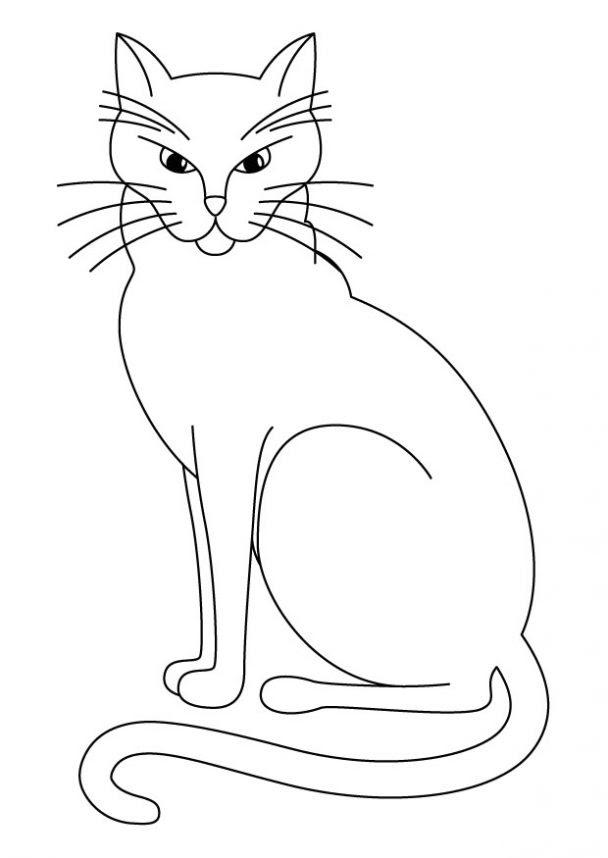 Dibujo De Gatos Para Colorear Dibujos Infantiles De Gatos Colorear