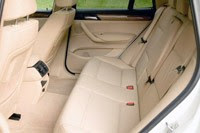 2011 BMW X3 xDrive28i rear seats