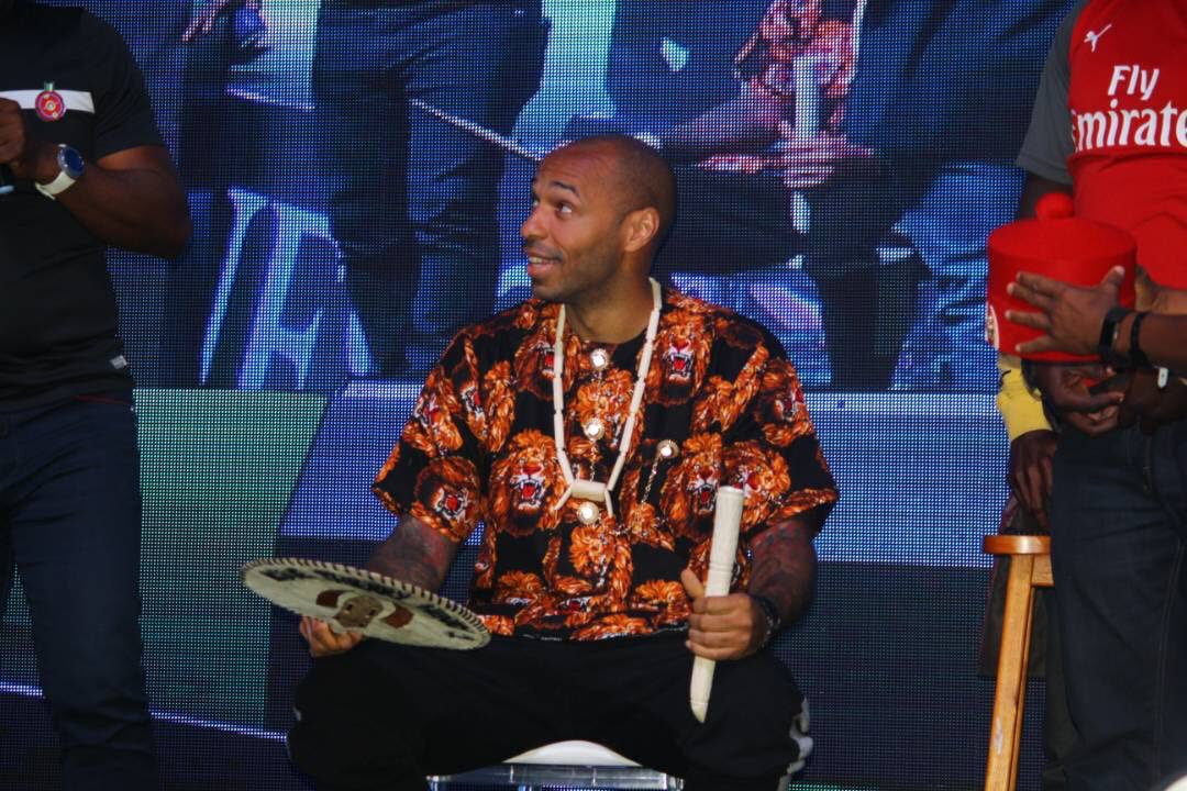 Thierry Henry Dressed In Igbo Traditional Attire (Photos)
