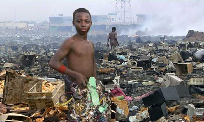Basurero tecnologico en Ghana, Africa