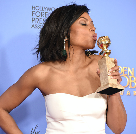 BEVERLY HILLS, CA - JANUARY 10: Taraji P. Henson poses at the 73rd Annual Golden Globe Awards at The Beverly Hilton Hotel. (Photo by Steve Granitz/WireImage)