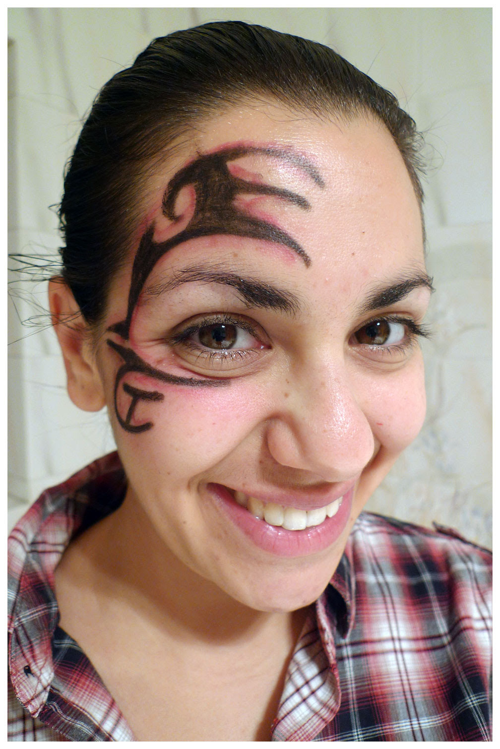 Tribal Face Tattoo For Girls