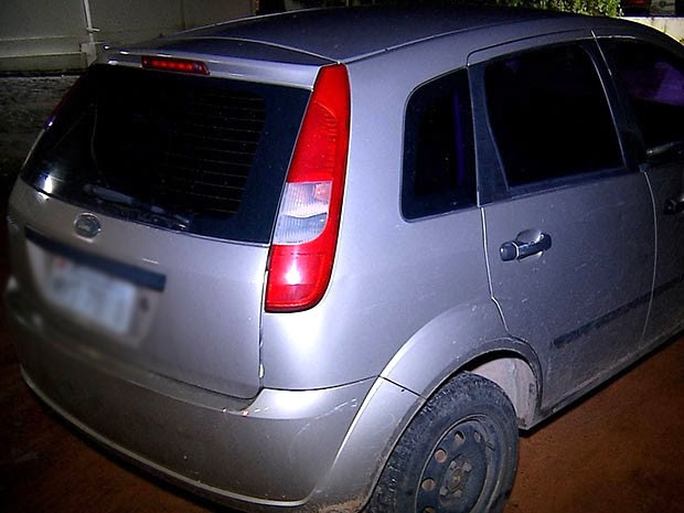 Carro de Diogo Nóbrega foi encontrado em São Gonçalo do Amarante, na Grande Natal (Foto: Reprodução/Inter TV Cabugi)