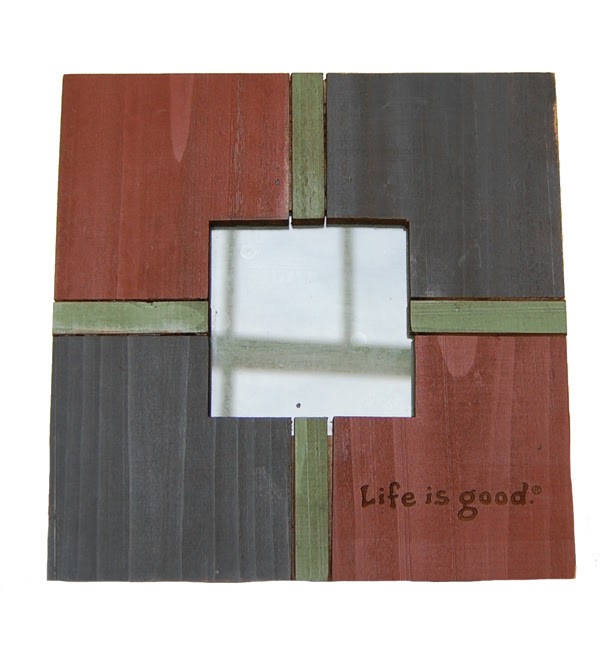 Life Is Good Barn Board Wood Frame Medium Midnight
