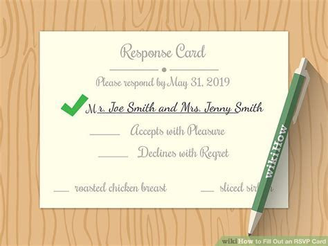 How to Fill Out an RSVP Card: 9 Steps (with Pictures