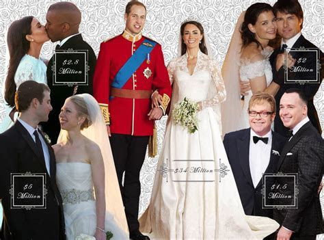 The Most Expensive Celebrity Weddings by the Numbers: From