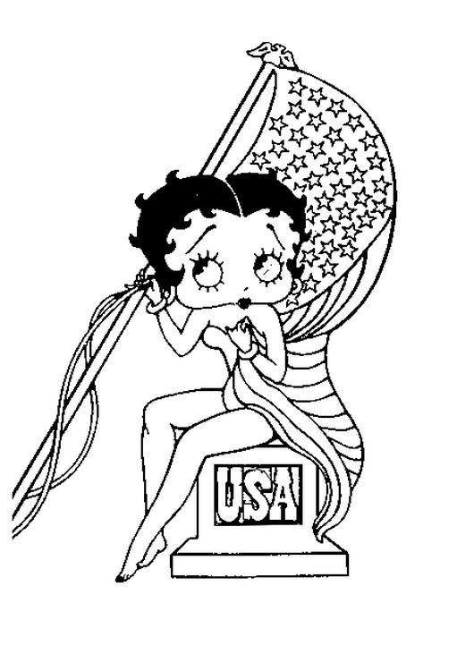 Disegni Da Colorare Betty Boop Morning Kids