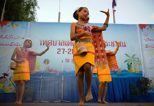 Kids doing traditional Thai dance