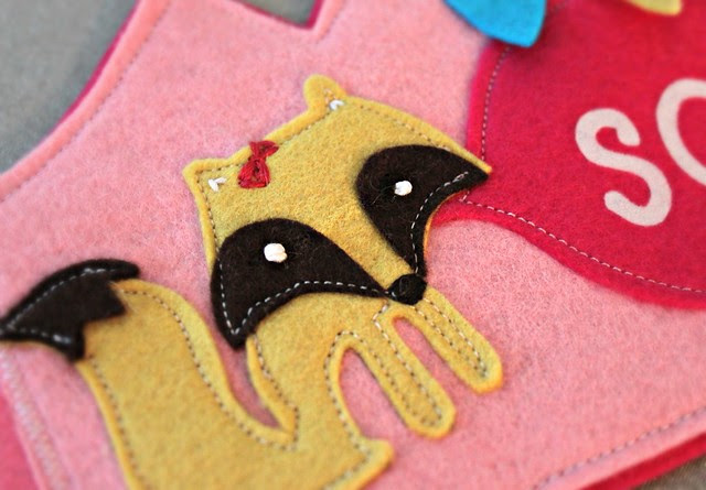 Tiny Fox Felt Applique