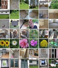 Mosaik aus Photos meines Hauses und meines Gartens