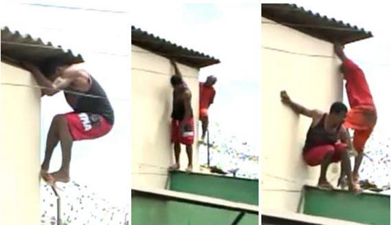 Globo News registra momento da fuga de detentos em Pedrinhas