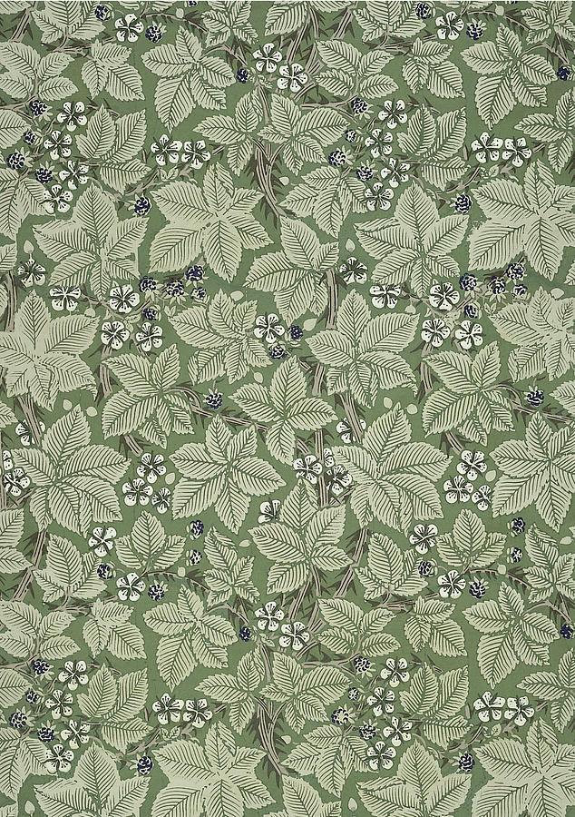 Bramble Design 1879 Tapestry  Textile by William Morris