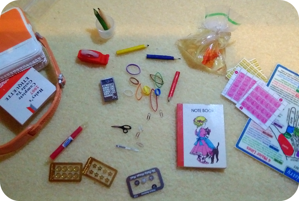 miniature stationery from the dolls house mall