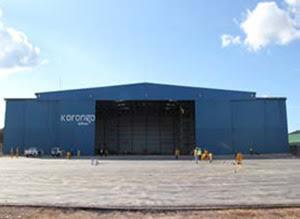 Korongo's hangar in FBM Lubumbashi