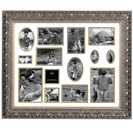 Studio Silversmiths Frames 62710 16x20 Silver Tone Collage