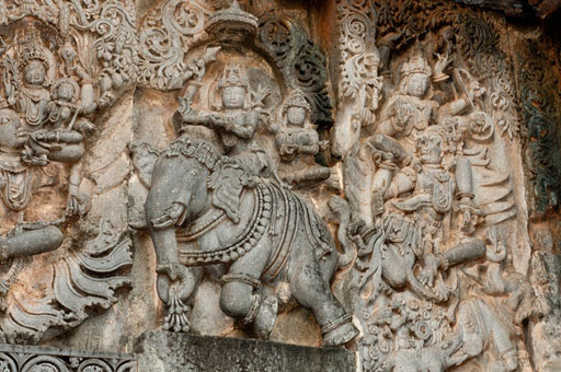 A section from the world famous hoysala architecture in India