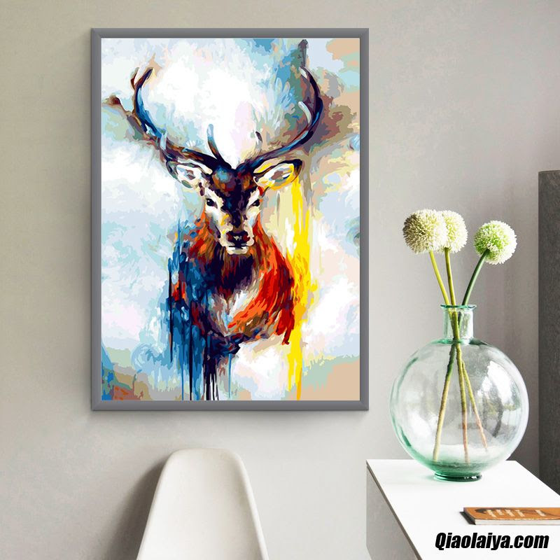 Tableau Décoratif La Peinture Peinture à Lhuile Abstrait Chambre
