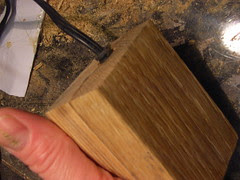 Wooden power plug casing