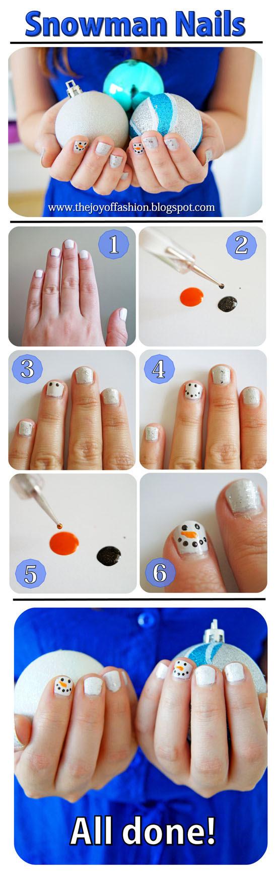 12 Dec - Snowman Nails - Small