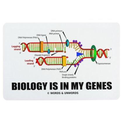 Biology Is In My Genes DNA Replication Humor Floor Mat