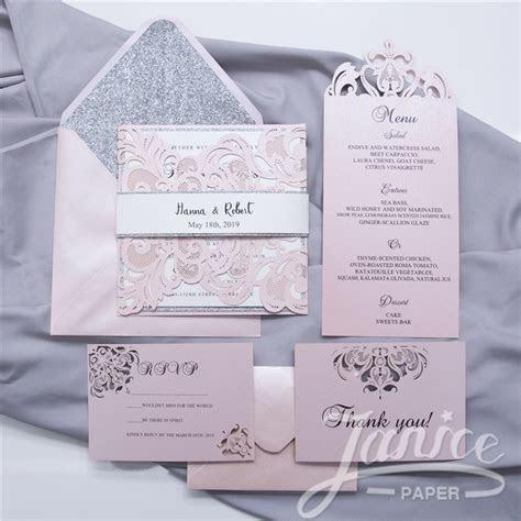Gorgeous Lace Pocket Laser Cut Wholesale Wedding