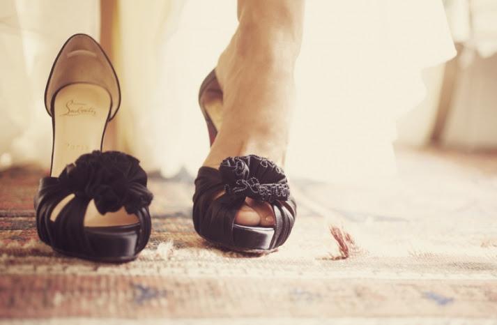 black wedding shoes christian louboutin peep toes