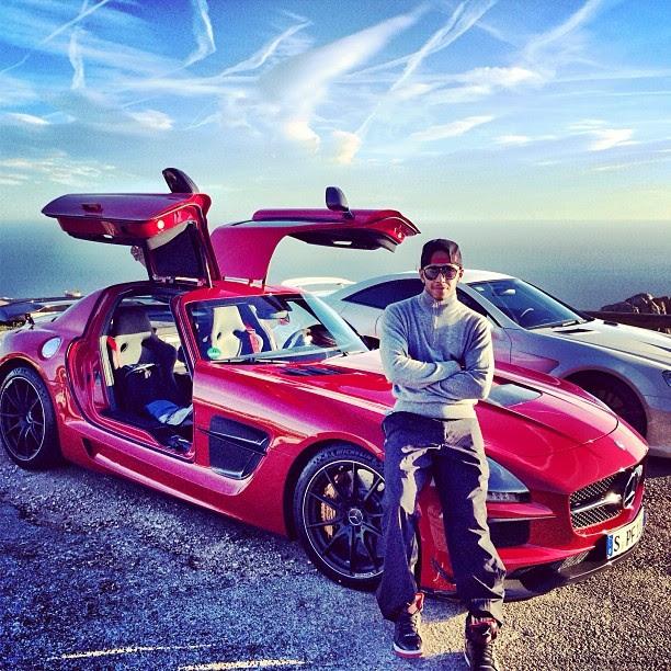 Lewis Hamilton's New Mercedes SLS Black Series | Celebrity ...