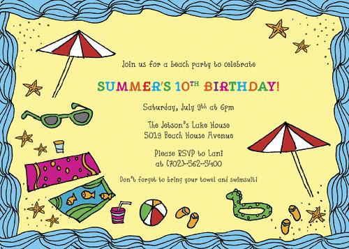 BBQ/Pool Party Design Invitation - DIY Printables