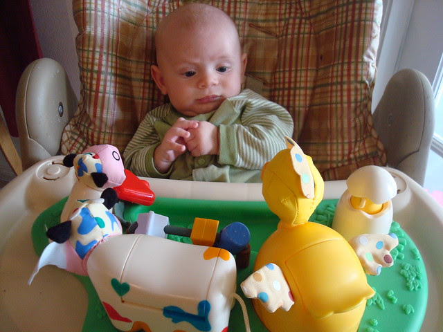 Stephen in the Highchair