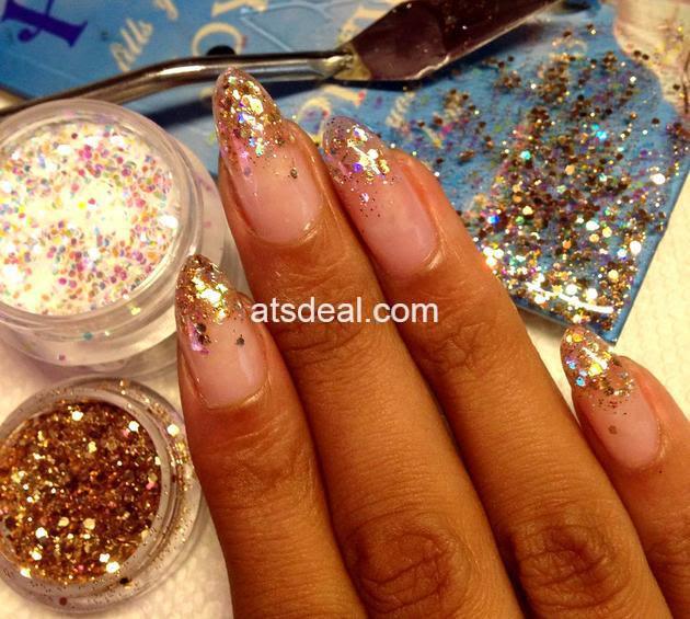 glitter gel nails