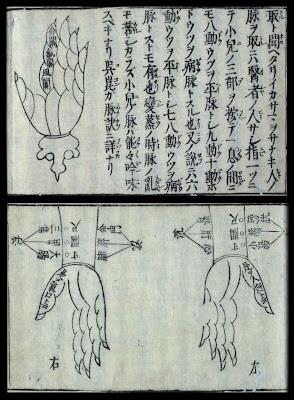 hand schematics in Japanese rare book