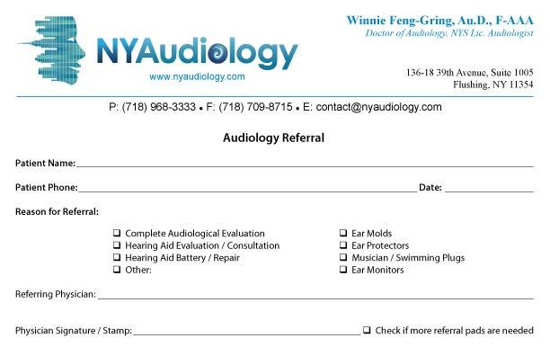 Audiology business plan sample