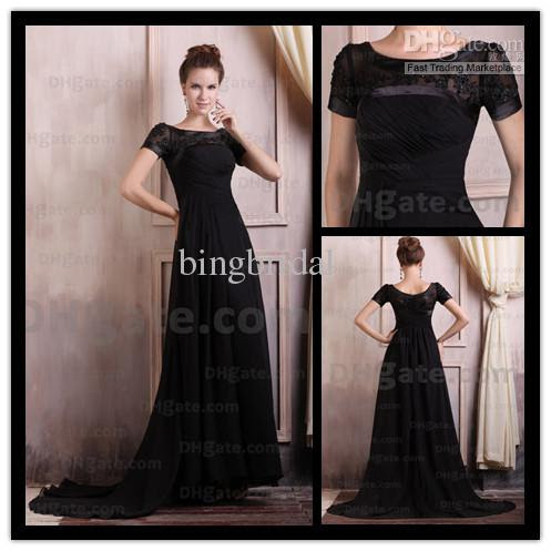 Long black evening dresses 2013