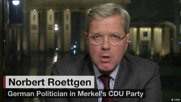 Nobert Röttgen im CNN-Interview (CNN)