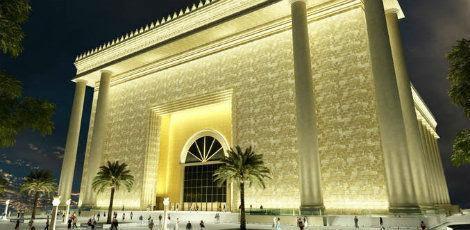 Com 100 mil metros quadrados de área construída em um terreno de 35 mil metros quadrados, o Templo de Salomão é considerado o maior do País / Foto: Divulgação