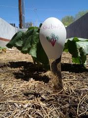 Rhubard Spoon Garden Marker