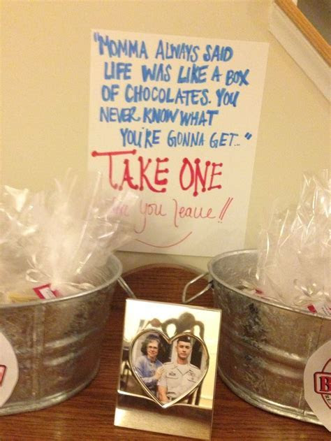 Forrest Gump birthday party favors, close up. These favors