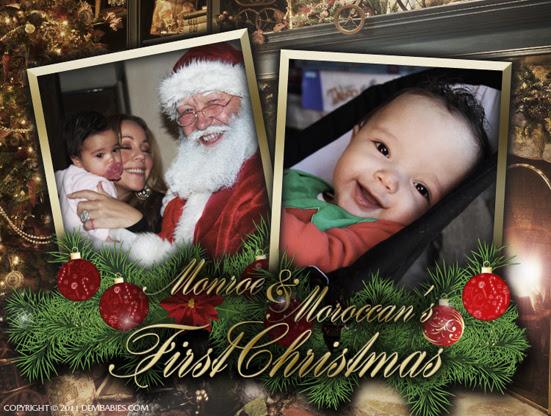 Cartão de Natal com os gêmeos de Mariah Carey (Foto: Reprodução Dem Babies)