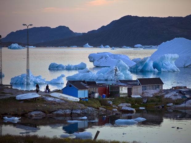 Mineração começa a ganhar força em cidade da Groenlândia devido ao degelo acelerado e à descoberta de recursos minerais (Foto: Andrew Testa/NYT)