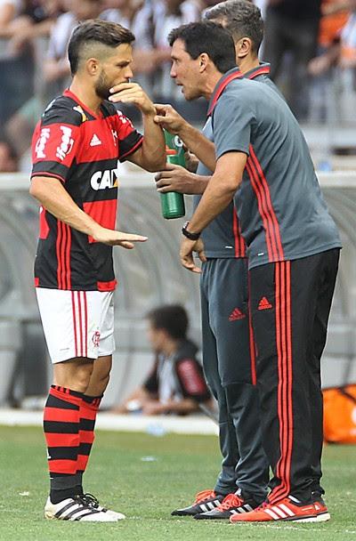 Zé Ricardo Diego Flamengo Atlético-MG (Foto: Gilvan de Souza/Flamengo)