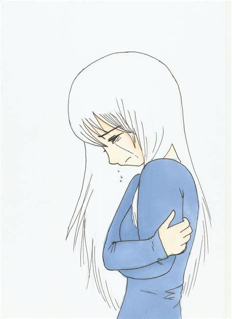 girl crying drawing easy anime girl crying crossing